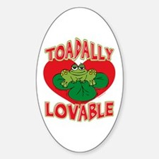Toadally Lovable Oval Decal