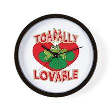 Toadally Lovable Wall Clock