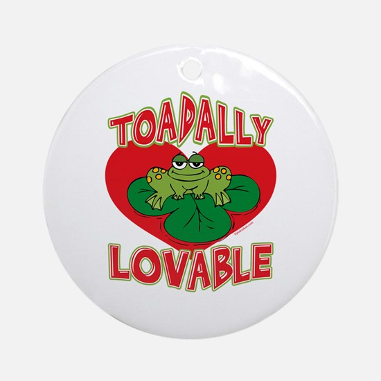 Toadally Lovable Ornament (Round)