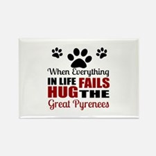 Hug The Great Pyrenees Rectangle Magnet