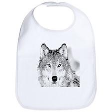 Great White Wolf Bib