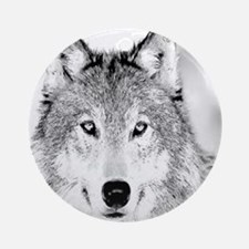 Great White Wolf Ornament (Round)