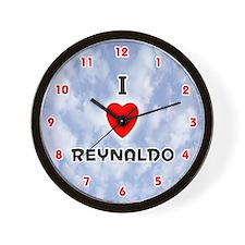 I Love Reynaldo (Red/Blk) Valentine Wall Clock