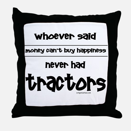 Cute Tractors Throw Pillow
