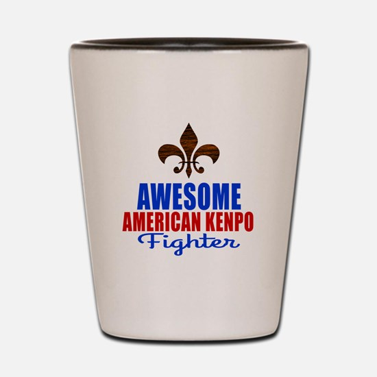 Awesome American Kenpo Fighter Shot Glass