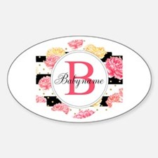 Baby Name Monogram Sticker (Oval)