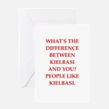 kielbasi Greeting Cards