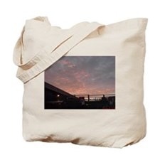 Armagedon Winter Fire Skies Tote Bag