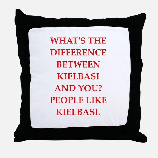 kielbasi Throw Pillow