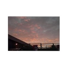 Armagedon Winter Fire Skies Rectangle Magnet