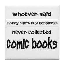 Cute Buy books Tile Coaster