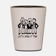 Black and White Quartet Shot Glass