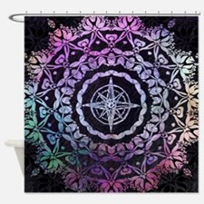 Dark Destination Mandala Shower Curtain