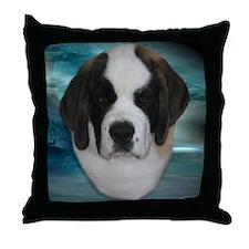 St Bernard Puppy Throw Pillow