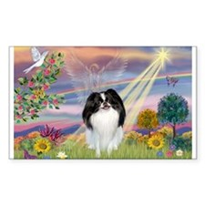 Cloud Angel & Japanese Chin Rectangle Decal