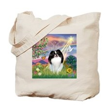 Cloud Angel & Japanese Chin Tote Bag