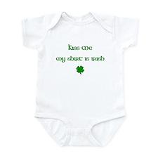 Kiss Me My Shirt Is Irish Infant Bodysuit