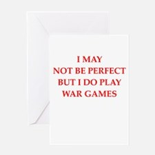 War games Greeting Cards