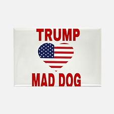TRUMP LOVES MAD DOG Magnets