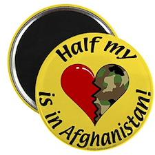 Half my heart is in Afghanistan Magnet