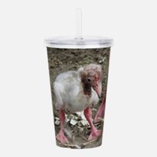 flamingo chick Acrylic Double-wall Tumbler