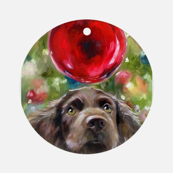 Cute Dogs and pet Round Ornament