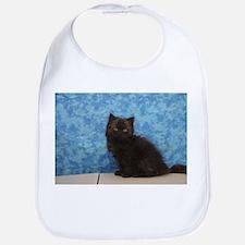 Onyx - Black Solid Ragamuffin Kitten Baby Bib