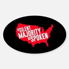 The Silent Majority Has Spoken Red Decal