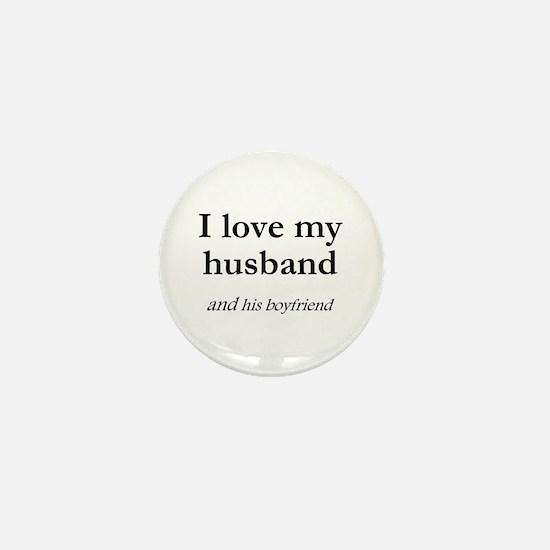Husband/his boyfriend Mini Button