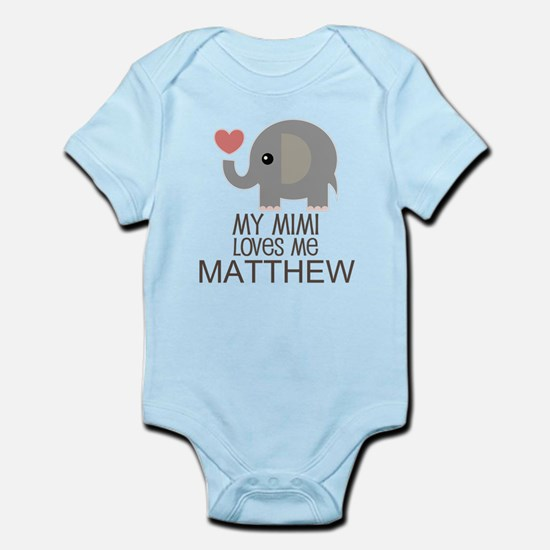 Mimi Loves Me Personalized Grandchild Body Suit