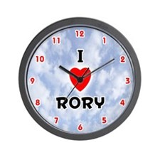 I Love Rory (Red/Blk) Valentine Wall Clock