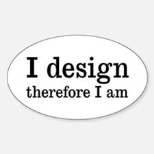 I Design Oval Decal