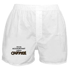 Accountant Need Coffee Boxer Shorts