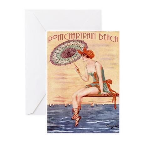 Pontchartrain Beach Poster 2 Greeting Cards (Pk of
