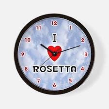 I Love Rosetta (Red/Blk) Valentine Wall Clock