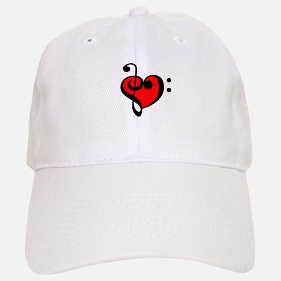 Music Heart Baseball Baseball Cap