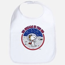 Peanuts No Dream Is Too Big Baby Bib