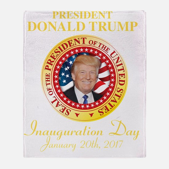 Cute Inauguration day Throw Blanket