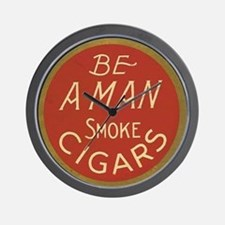 Be a Man Vintage Cigar Ad Wall Clock