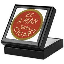 Be a Man Vintage Cigar Ad Keepsake Box