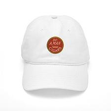Be a Man Vintage Cigar Ad Baseball Cap