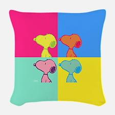 Snoopy Art Woven Throw Pillow
