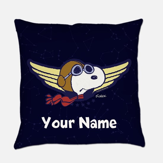 Snoopy Ace Personalized Everyday Pillow