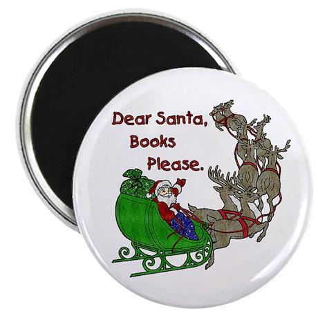 "Dear Santa - Kids Printing 2.25"" Magnet (10 pack)"