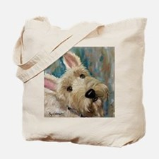 Cute Wheaten scottish terrier Tote Bag