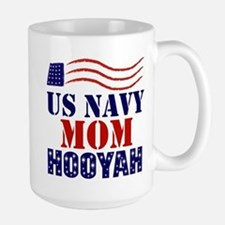 US Navy Mom Hooyah Mugs