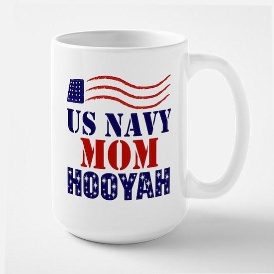 US Navy Mom Hooyah Mugs
