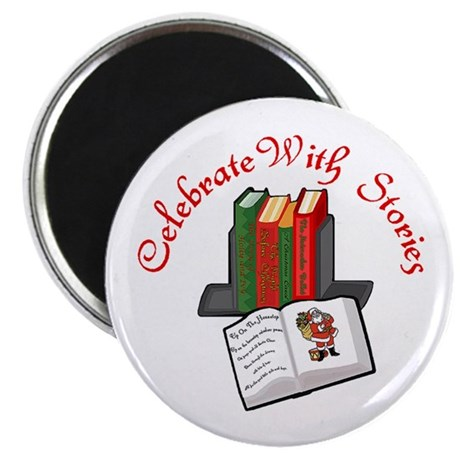 """Celebrate w Stories 2.25"""" Magnet (10 pack)"""