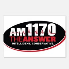 AM 1170 The Answer KCBQ logo Postcards (Package of