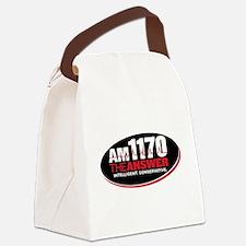 AM 1170 The Answer KCBQ logo Canvas Lunch Bag